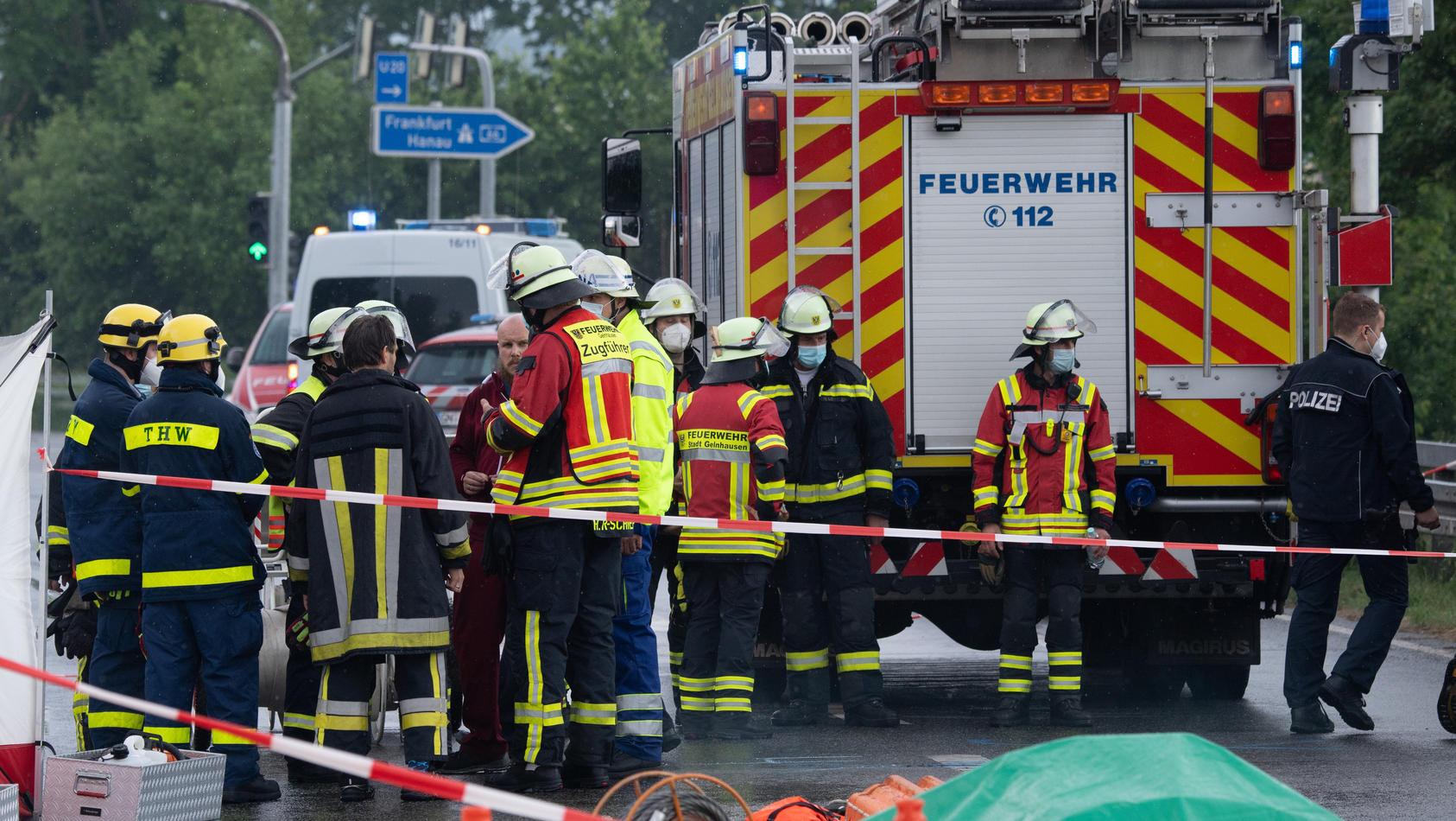 Zwei Tote bei Flugzeugabsturz bei Gelnhausen.