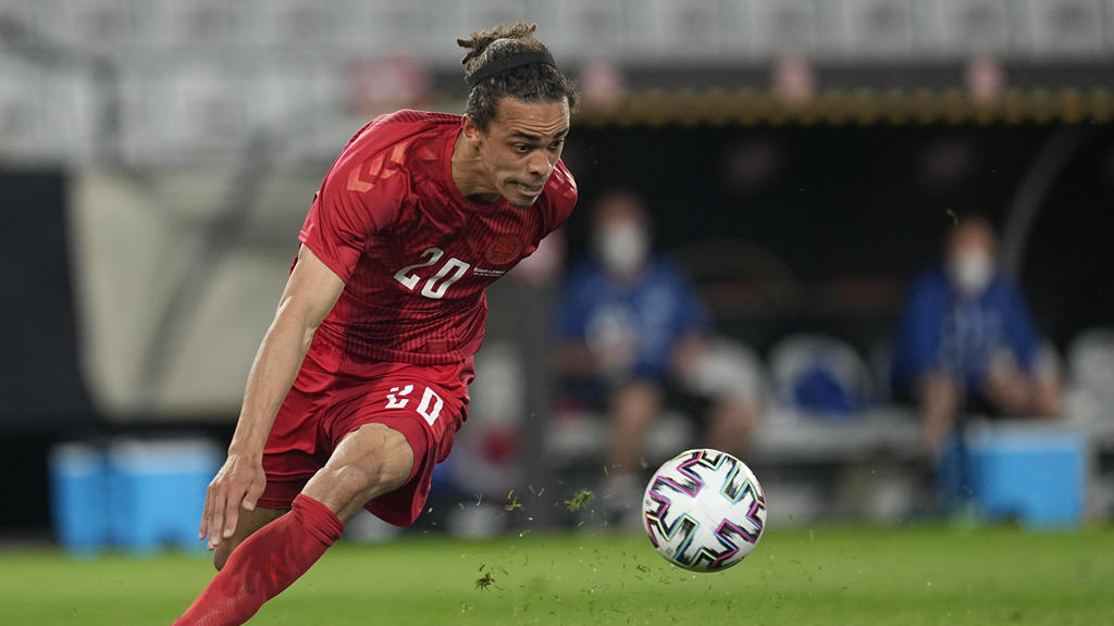 June 2, 2021: Denmark s Yussuf Poulsen during Germany against Denmark on Tivoli Stadium, Innsbruck , Austria. /CSM Innsbruck Austria - ZUMAc04_ 20210602_zaf_c04_400 Copyright: xKimxPricex