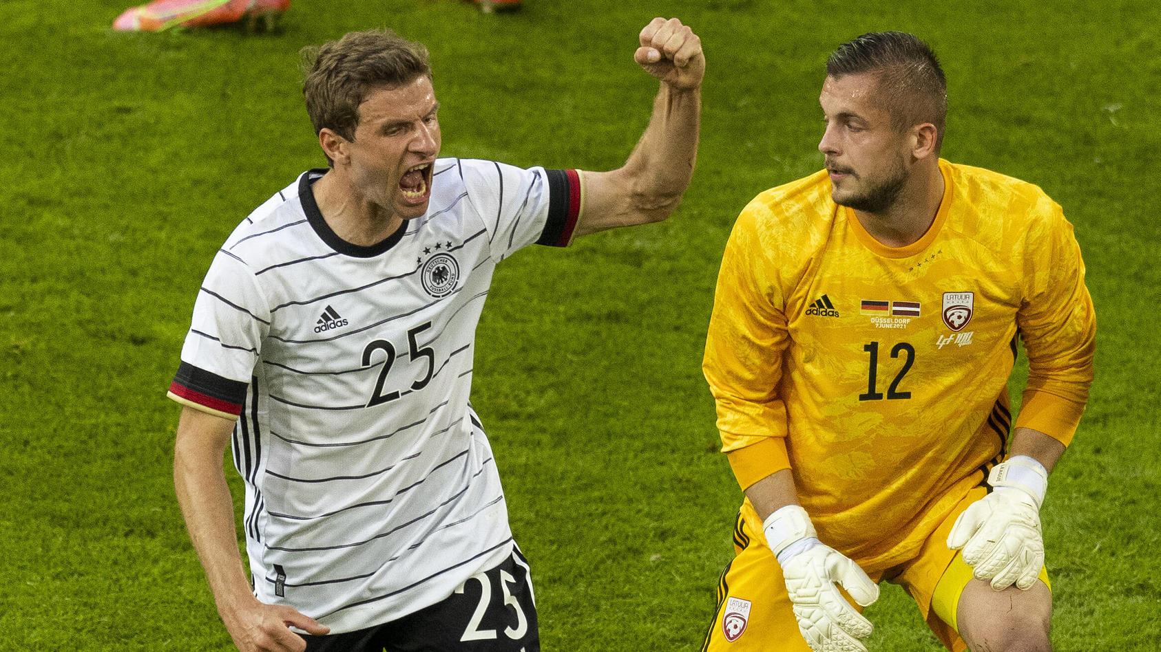 Thomas Müller traf beim 7:1 gegen Lettland