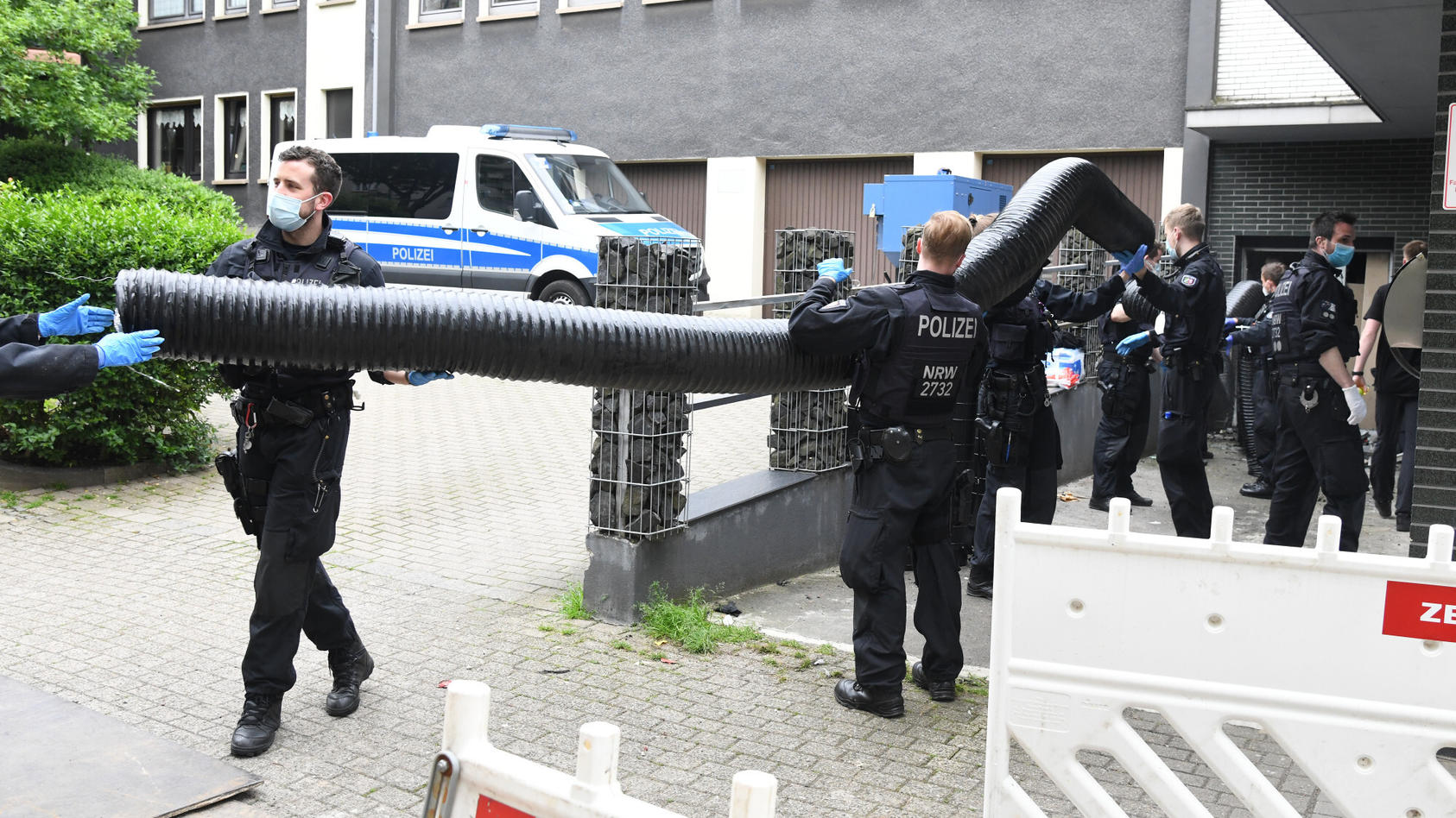 Neben Hessen erstreckte sich der Einsatz auch auf NRW, wie hier in Essen.