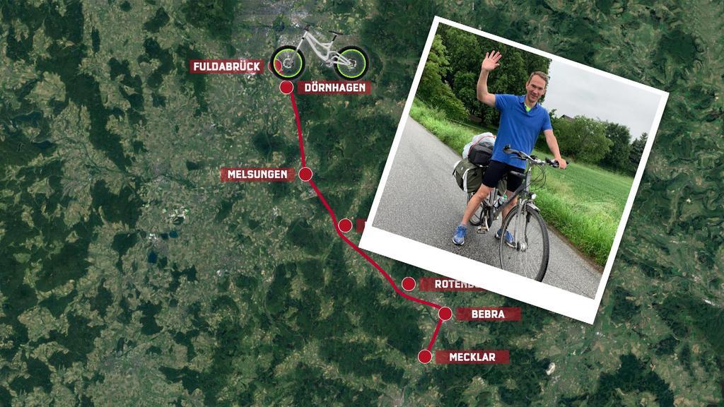 Fahrradroute von Reporter Cord Eickhoff