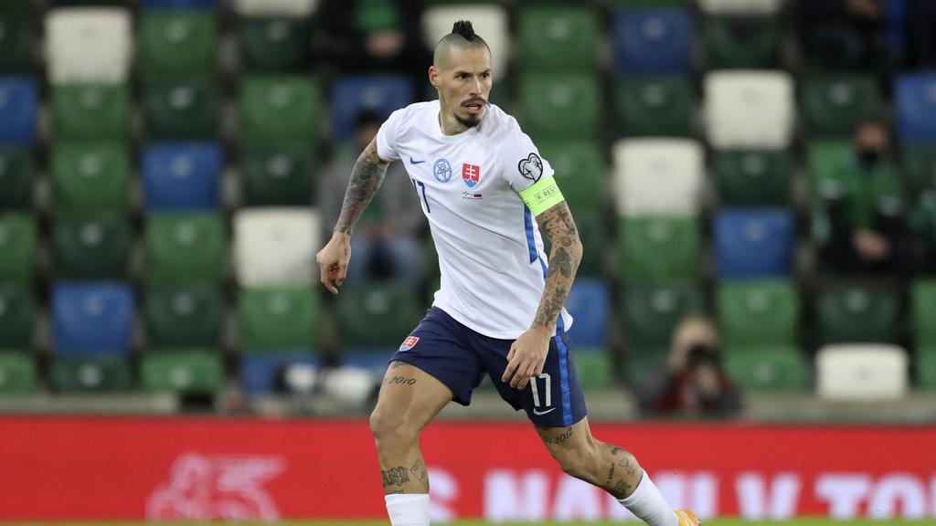 Der slowakische Nationalspieler Marek Hamsik während der Playoffs