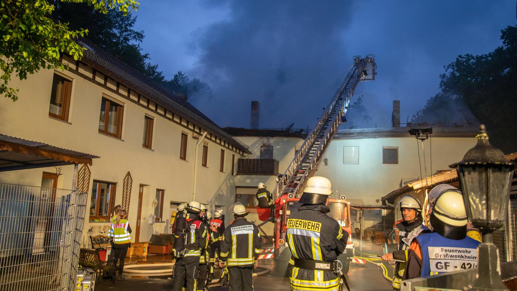 Das Tierheim in Münnerstadt brannte in der Nacht von Mittwoch auf Donnerstag.