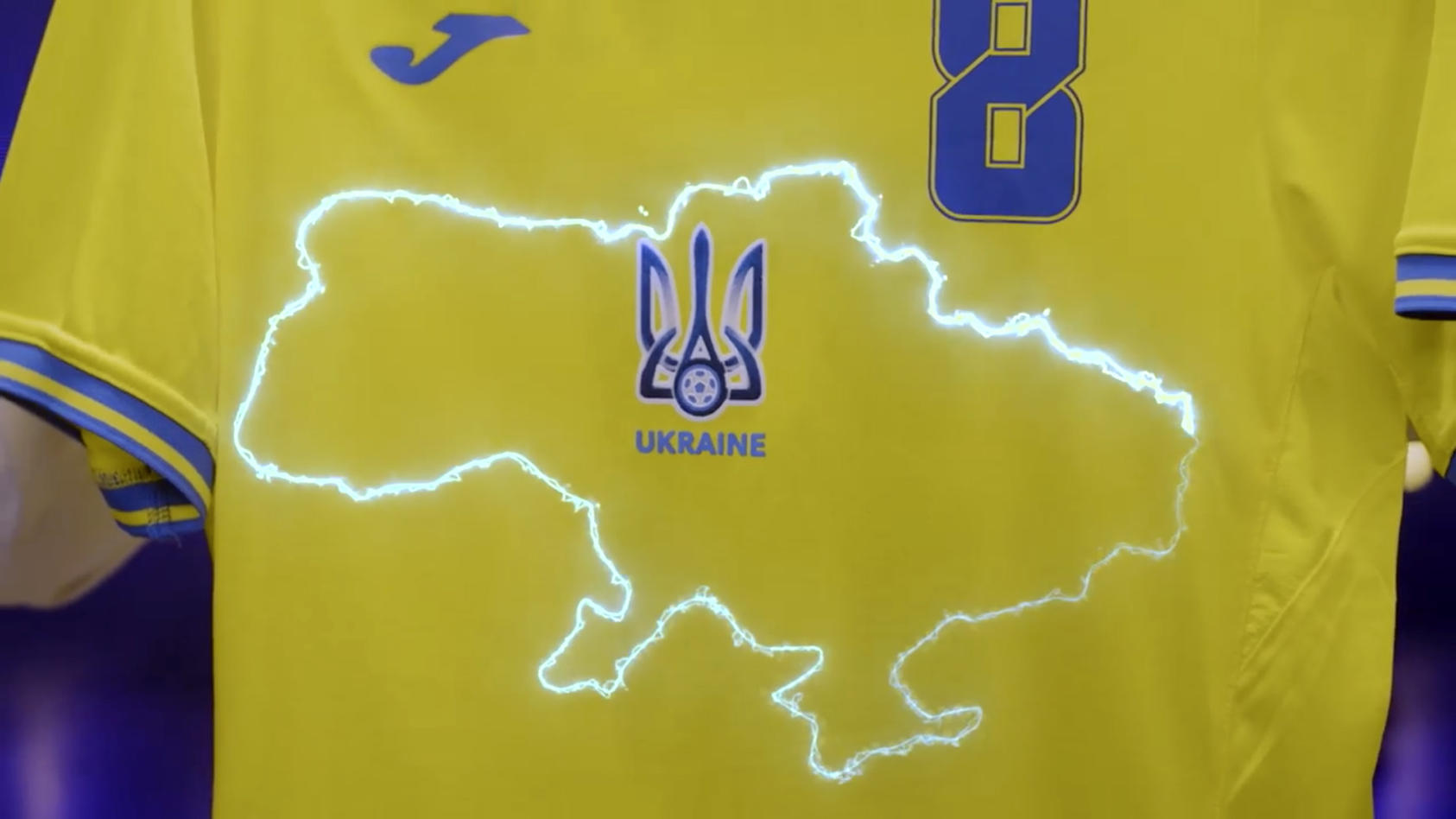 Streiffall: Das Trikot der Ukraine bei der EM 2021.