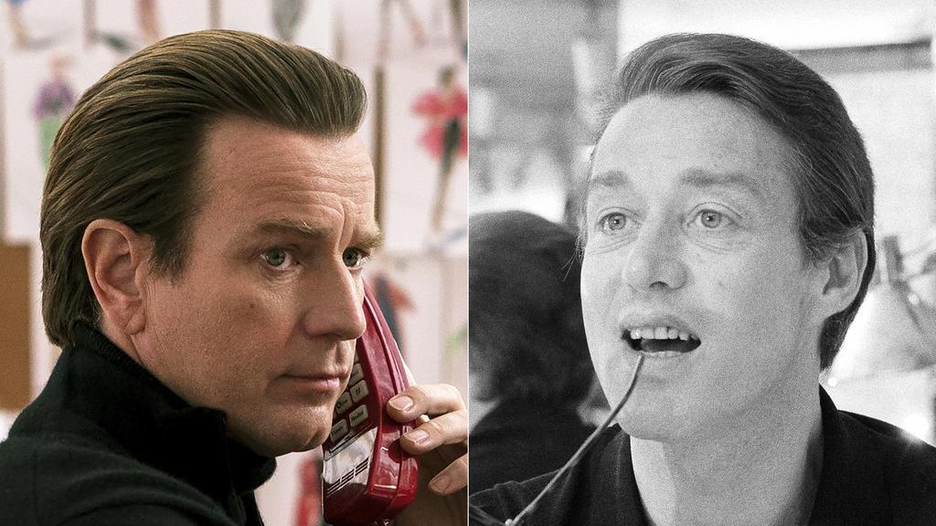 """Ewan McGregor porträtiert in der neuen Netflix-Serie """"Halston"""" den Fashion Designer Roy Halston Frowick (re., hier 1975)"""