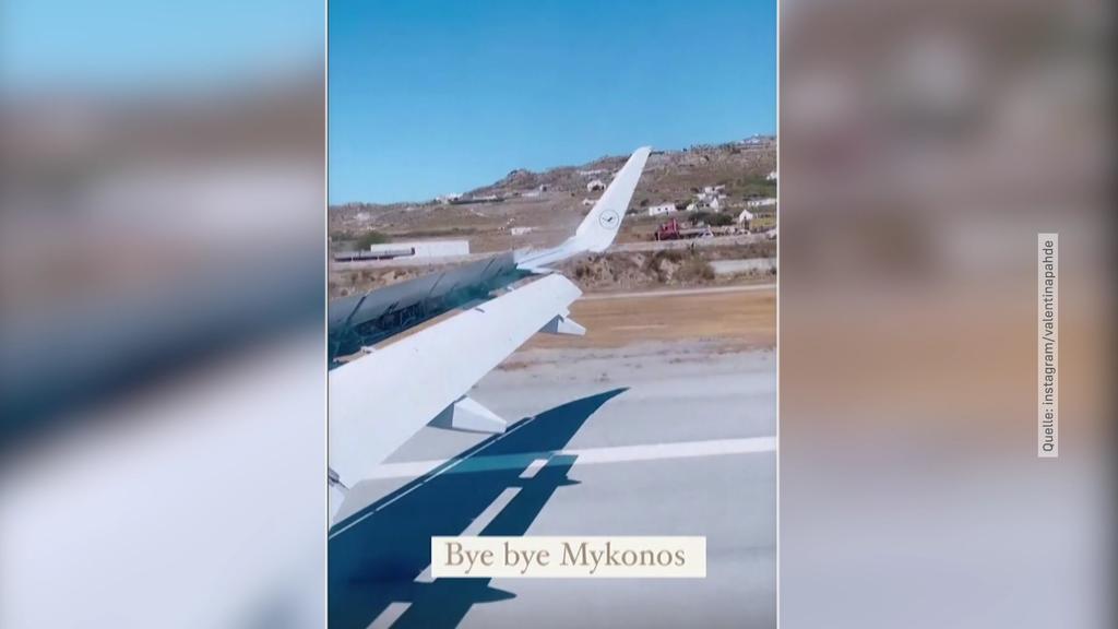 Valentina Pahde verlässt Mykonos