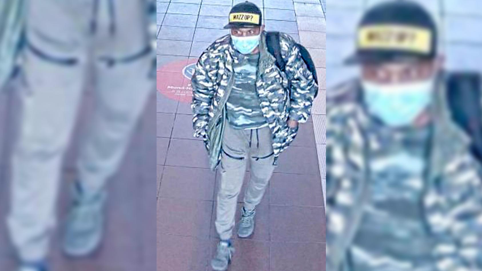 Dieser Mann soll mehrfach Frauen sexuell belästigt haben. Mit den Fotos fahndet die Polizei nun öffentlich nach ihm.