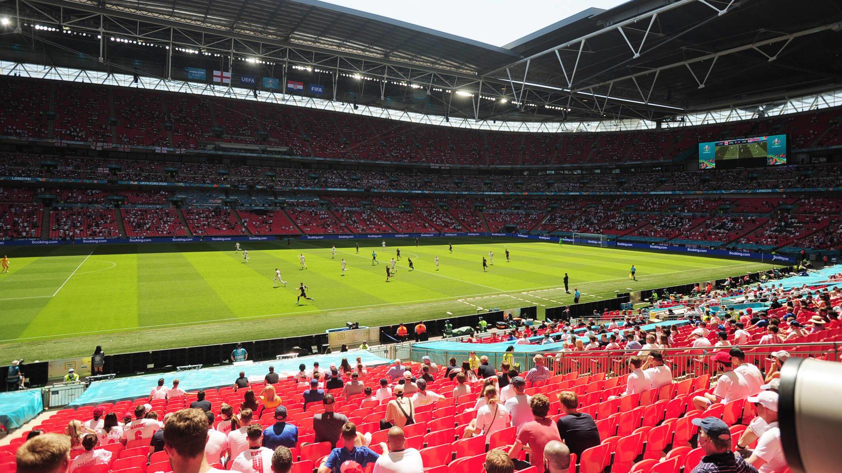 22.500 Zuschauer waren im Wembley beim Spiel zwischen England und Kroatien.