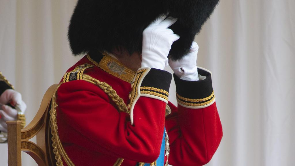 Prinz Edward, Duke of Kent bei der Militärparade zu Ehren der Queen im Jahr 2021