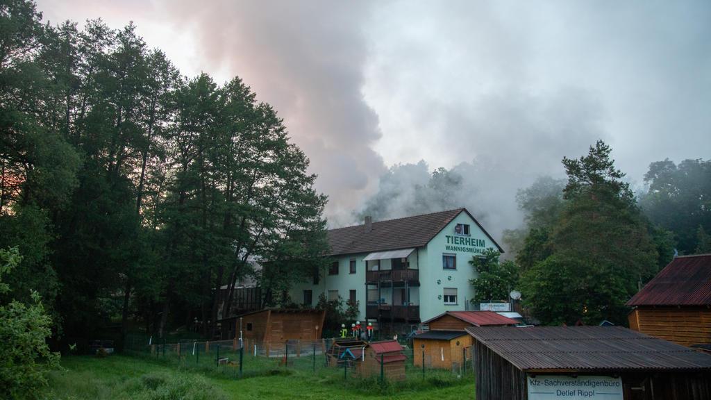 Brand im Tierheim in Münnerstadt