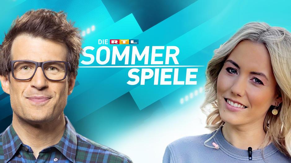 """Daniel Hartwich und Laura Papendick moderieren im Sommer 2021 """"Die RTL-Sommerspiele""""."""