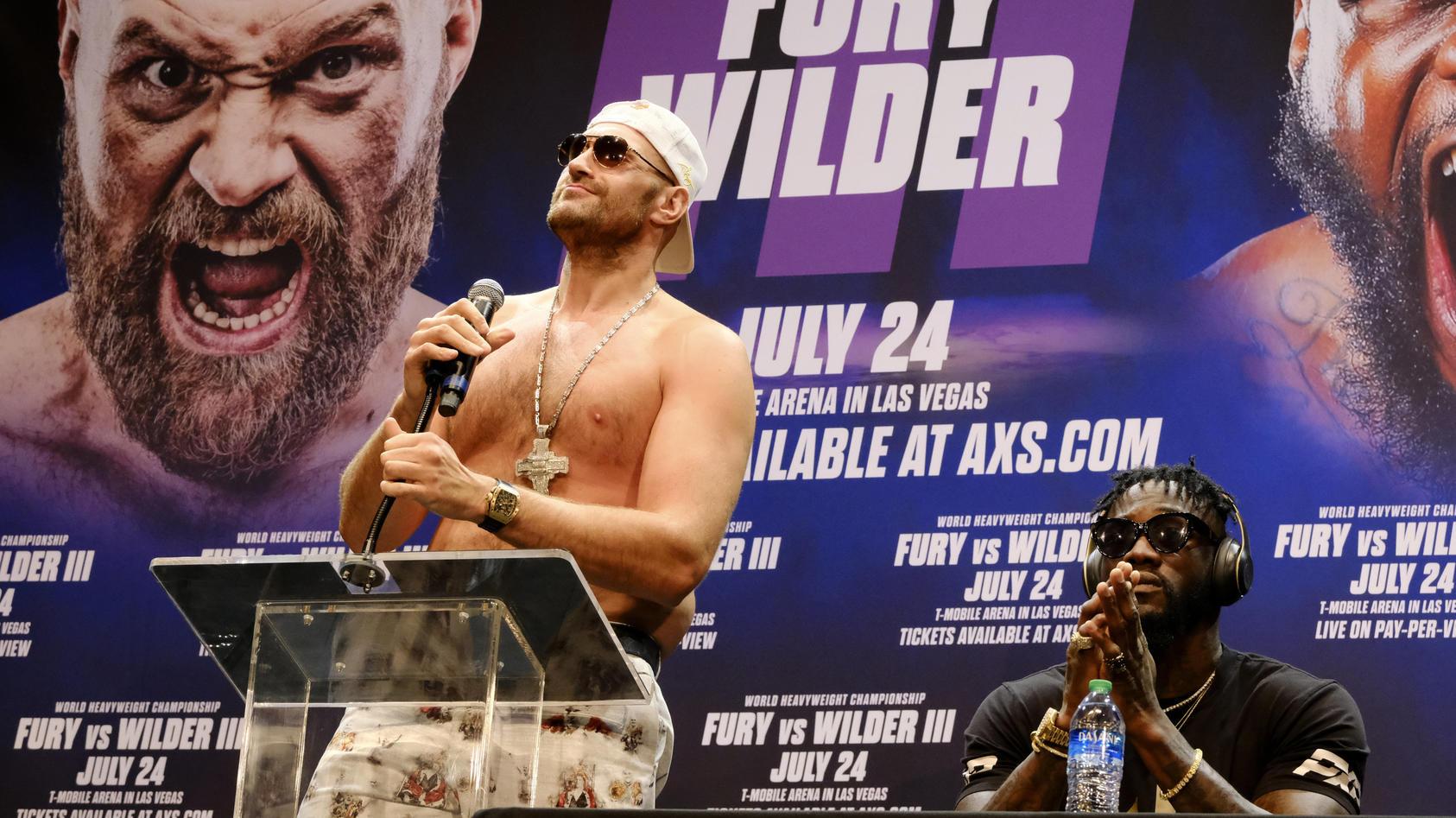 Tyson Fury redete, Deontay Wilder schwieg lieber