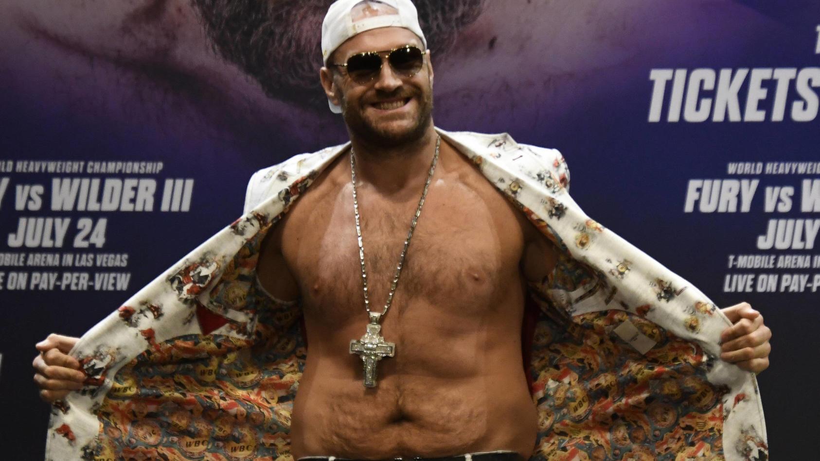 Tyson Fury ist jeder Hinsicht positiv-verrückt.
