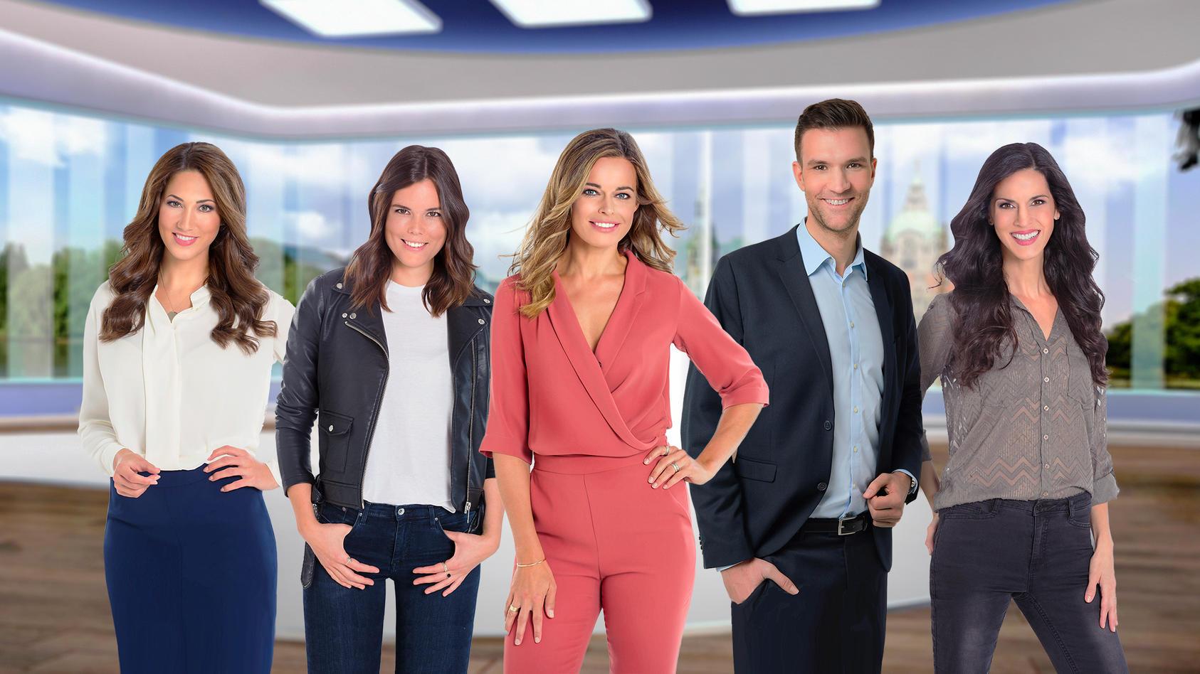 Die Moderatorinnen und der Moderator von RTL Nord für Hamburg, Schleswig-Holstein, Niedersachsen und Bremen.
