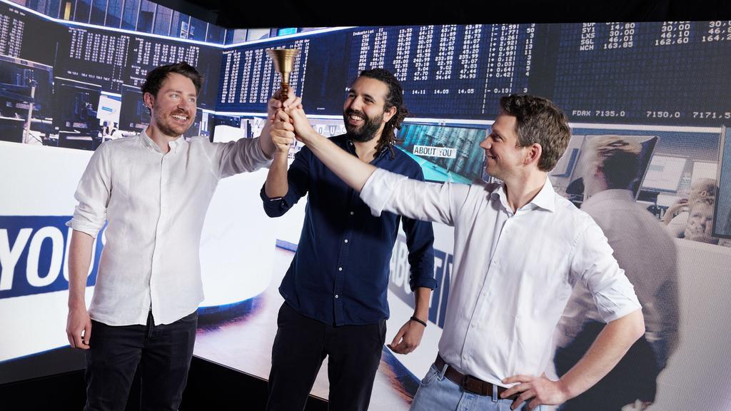Hannes Wiese (Mitgründer und Vorstandsmitglied Operations & Finance), Tarek Müller (Mitgründer und Vorstandsmitglied Marketing & Brand), Sebastian Betz (Mitgründer und Vorstandsmitglied Tech & Produkt)