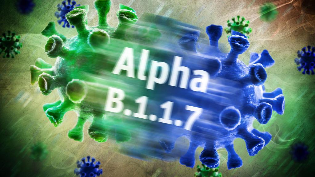 Symbolfoto von mutiertem Coronavirus der Alpha-Variante B.1.1.7