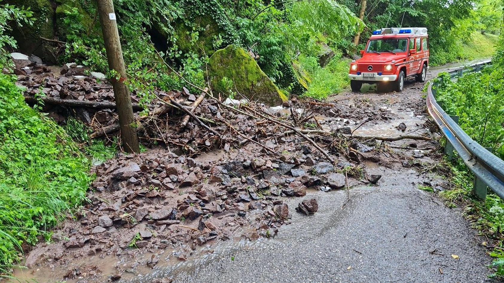 Überschwemmungen und Erdrutsche nach Unwettern in Südtirol.