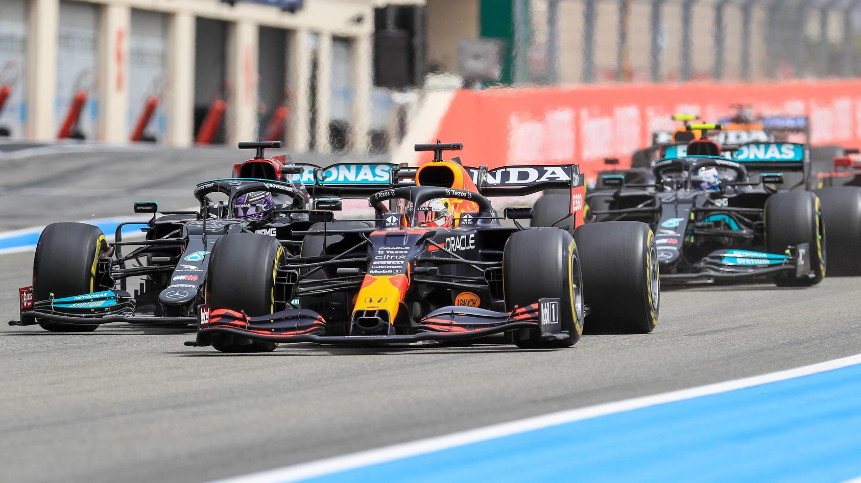 Max Verstappen gewann den Frankreich-GP knapp vor Lewis Hamilton