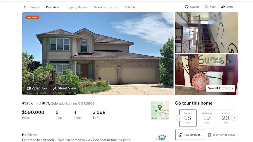 Maklerin Mimi Foster hat auf der Immobilienplattform Redfin.com keine Details ausgelassen.