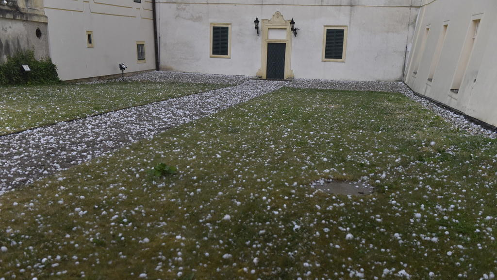 Not only the Czech Republic was badly affected by the hurricane, but Austria also received heavy hail.
