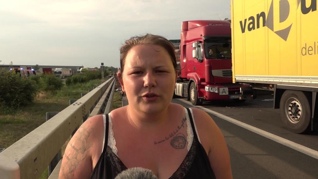 Janina Kock ist glücklich, den LKW-Unfall überlebt zu haben.