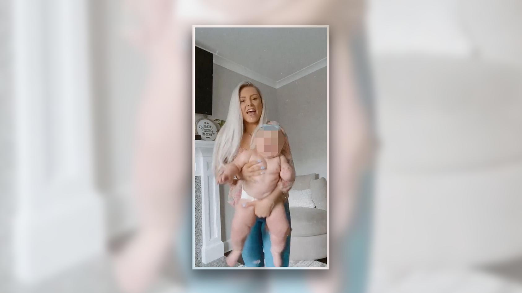 Die Tochter von Julia Linares wiegt mit neun Monaten schon 12 Kilo