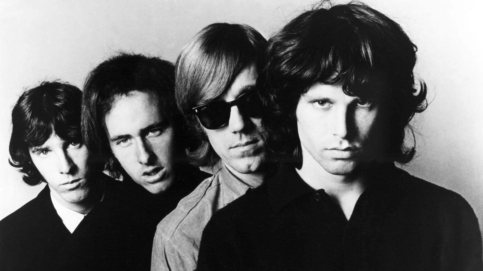"""The Doors"": John Densmore, Robby Krieger, Ray Manrarek und Jim Morrison."