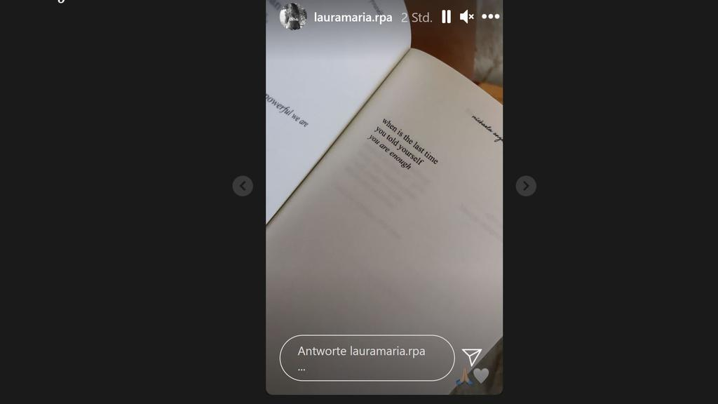 Laura Maria Instagram-Story