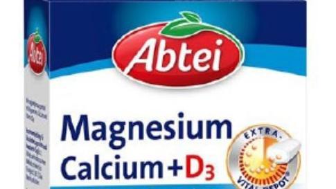 """Magnesium Calcium + D3""-Tabletten der Marke Abtei"