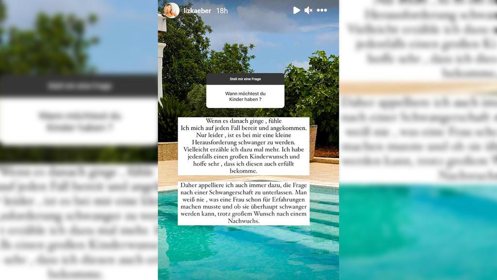 Liz Kaeber reagiert bei Instagram auf die Kinderfrage