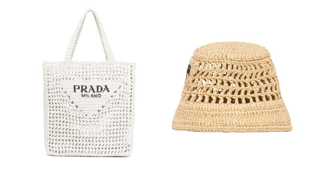 Tasche und der Fischerhut von Prada