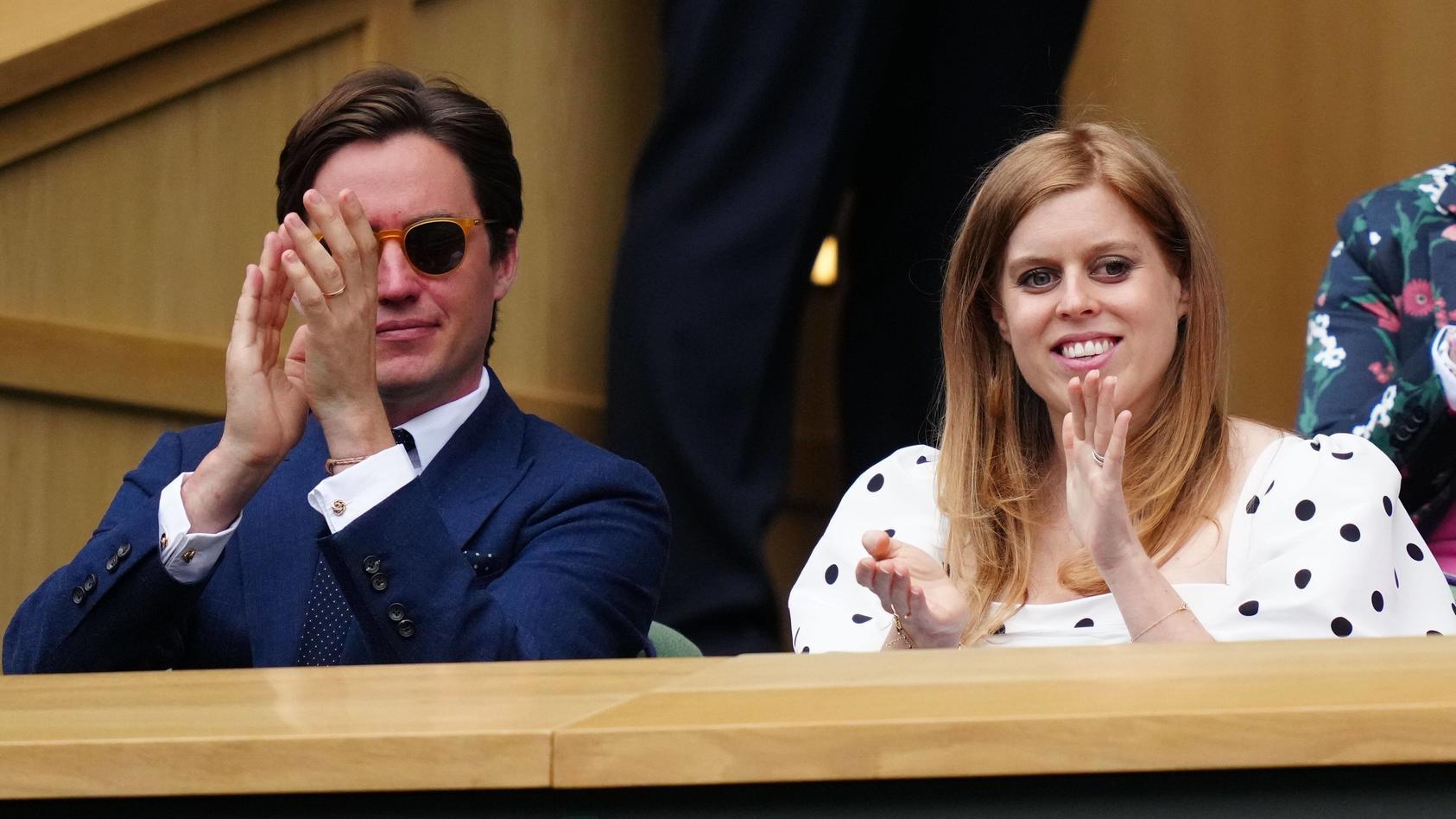 Edoardo Mapelli Mozzi und Prinzessin Beatrice haben gemeinsam Wimbledon besucht.