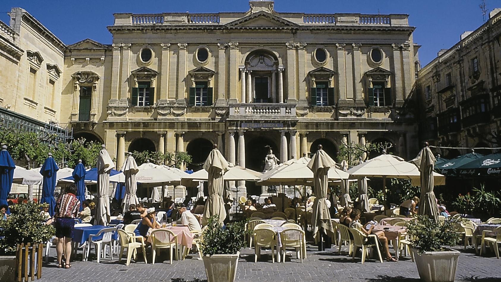 Die Nationalbibliothek von Malta in Valletta.