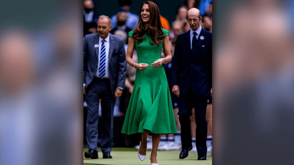 Herzogin Kate kommt auch ihrer Quarantäne und sieht sich Tennis in Wimbledon an.