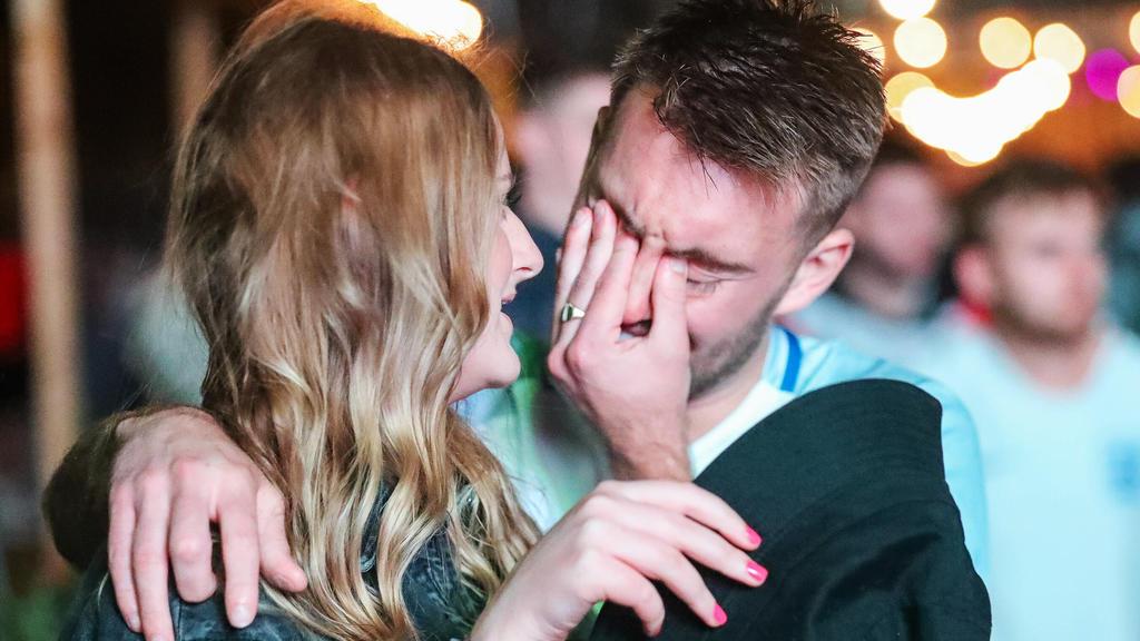 Englands Fans weinten um den verpassten Titel