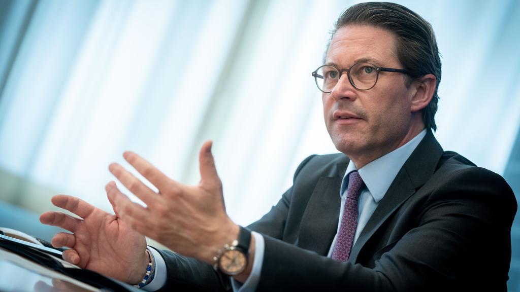 07.07.2021, Berlin: Andreas Scheuer (CSU), Bundesminister für Verkehr und digitale Infrastruktur, spricht in einem Interview mit Journalisten der Deutschen Presse-Agentur. Foto: Kay Nietfeld/dpa +++ dpa-Bildfunk +++