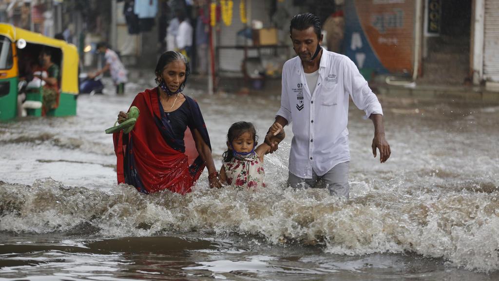 Monsun-Saison in Indien