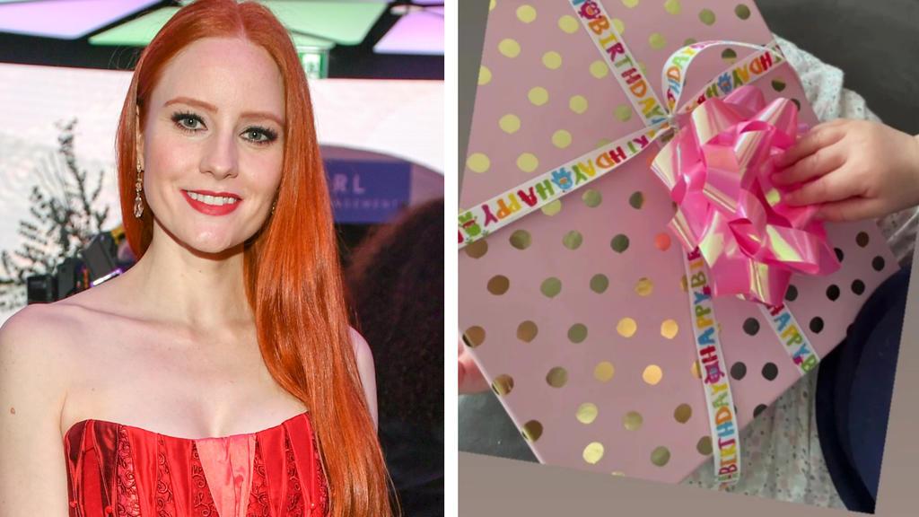 Barbara Meiers Tochter wurde an ihrem ersten Geburtstag reichlich beschenkt.