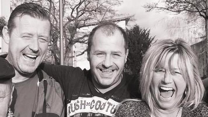 Willi Herren mit seinem Bruder Theo und seiner Schwester Annemie