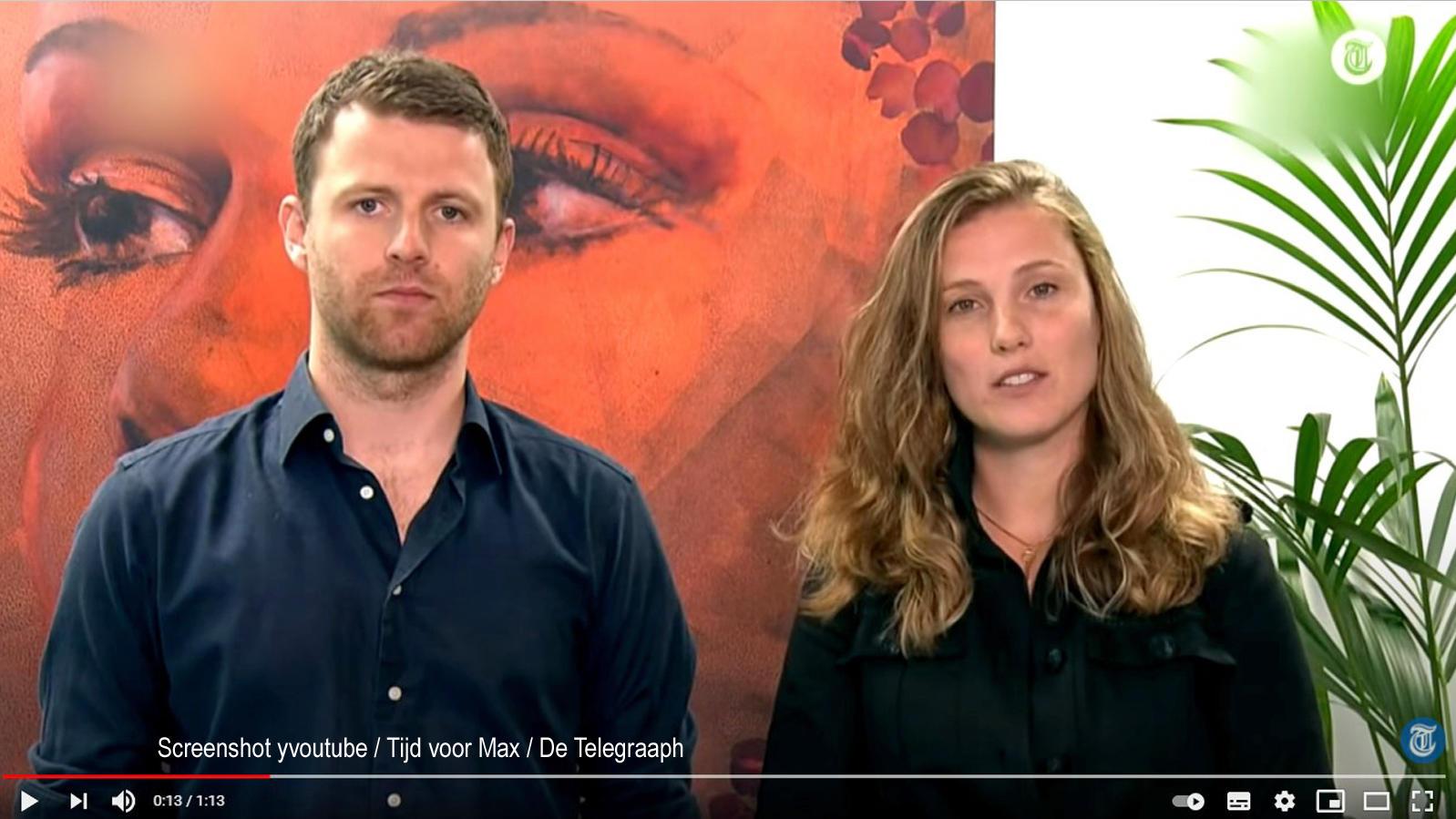 Royce (links) und Kelly de Vries im niederländischen Fernsehen.