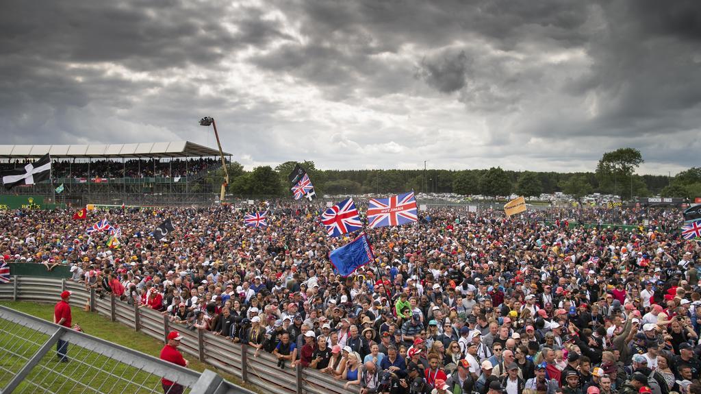 Fans am Silverstone Circuit