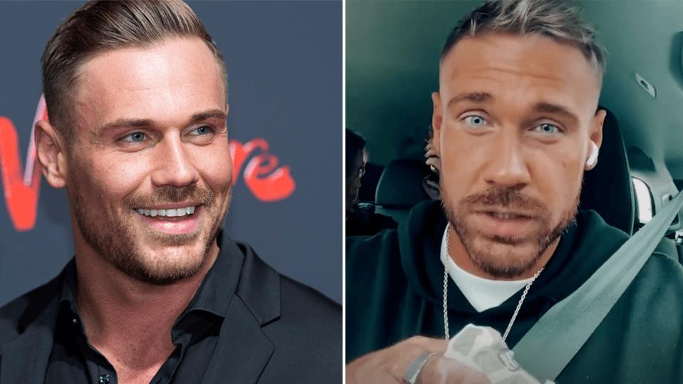 Link: Chris Broy im Oktober 2020 auf einer Veranstaltung und rechts: Chris sehr viel dünner im Juli 2021.