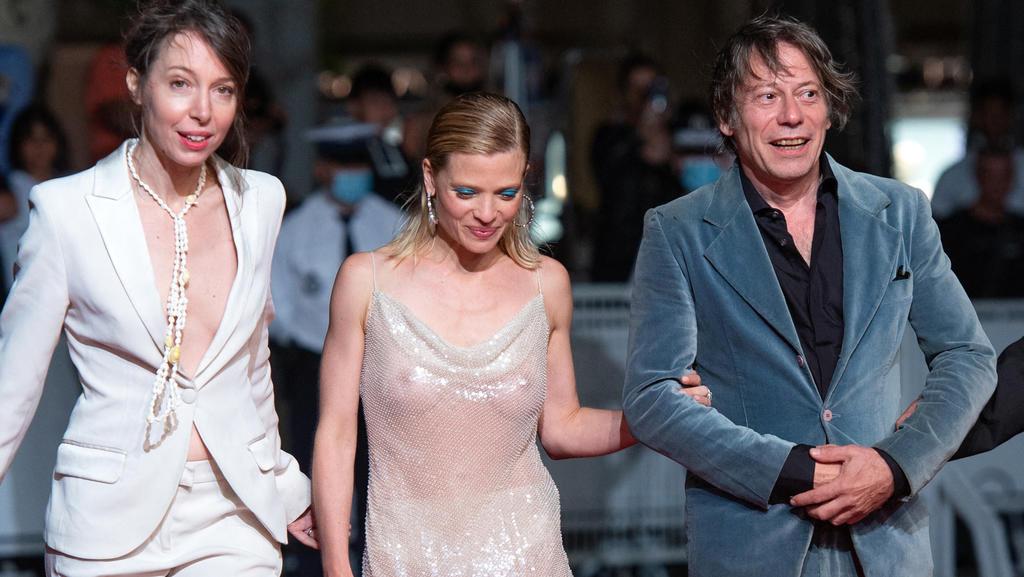 Jeanne Cherhal, Melanie Thierry und Mathieu Amalric bei den internationalen Filmfestspielen von Cannes