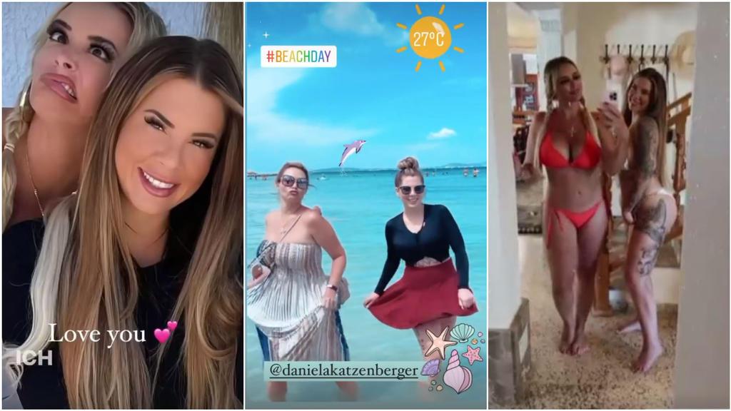 Haben viel Spaß zusammen: Daniela Katzenberger und Jenny Frankhauser