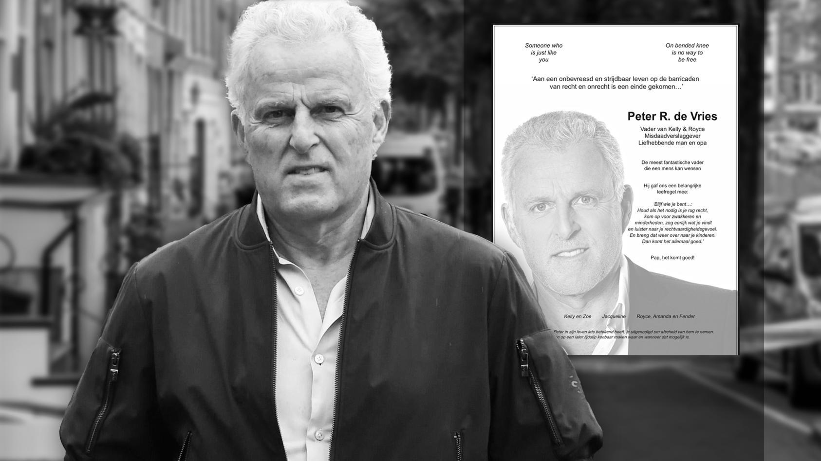 Mit dieser emotionalen Todesanzeige verabschieden sich die Kinder des ermordeten Peter de Vries, Royce und Kelly von ihrem Vater.