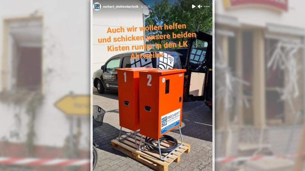 Handwerker aus ganz Deutschland unterstützen ihre Kollegen in den Flutgebieten.