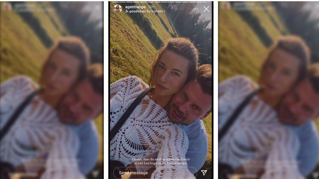 Jennifer Lange mit dem neuen Mann in ihrem Leben, Darius Zander.