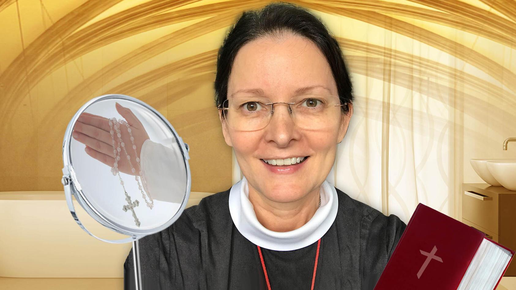 Schwester Monica ist 55 Jahre alt. Ihre TikTok-Follower sind ganz baff und wollen wissen: Was ist ihr Beauty-Geheimnis?