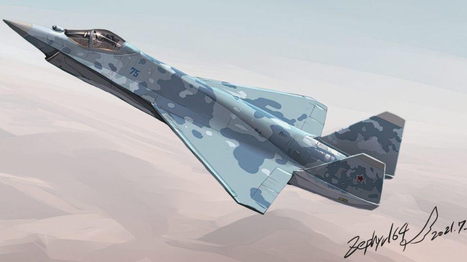 """Russland zeigt neues Stealth-Kampfflugzeug SU-57 (""""Checkmate"""")"""