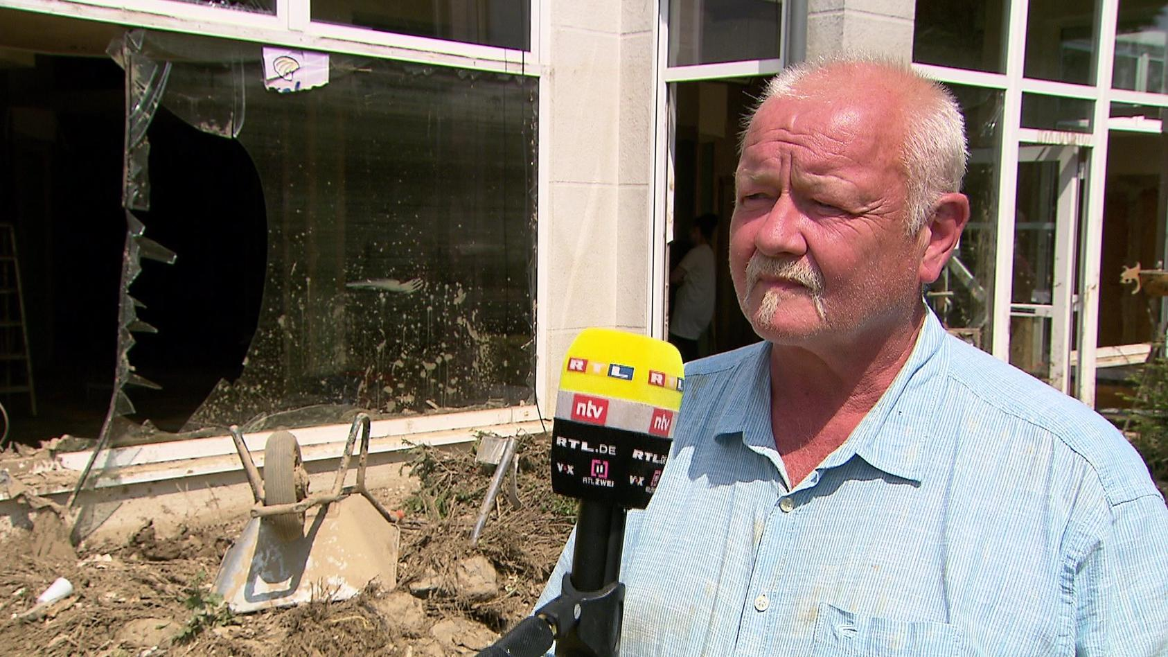 Frank Wershofens Betrieb wurde von den Fluten hart getroffen